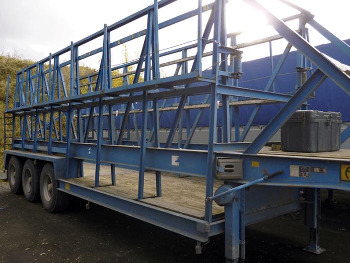 Le porte-banches pour acheminer les banches sur les chantiers du BTP et du bâtiment